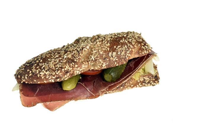 Sandwich mit Bünderfleisch