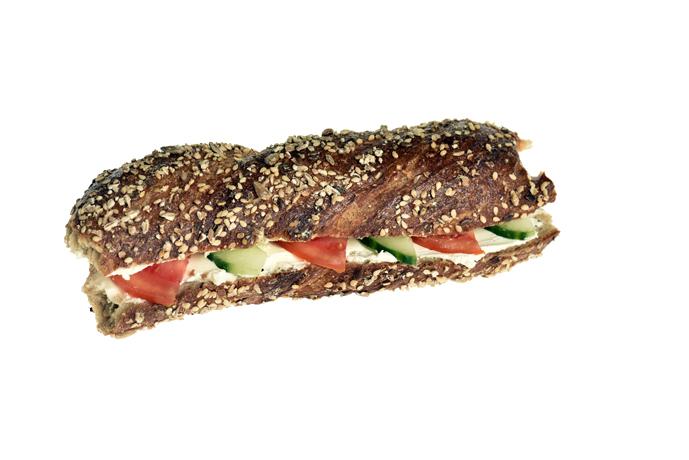 Sandwich mit Frischkäse