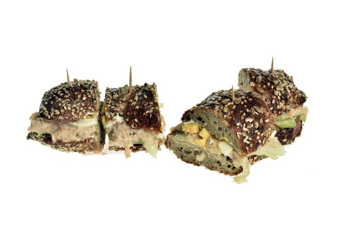 Sandwich mit Crevetten-Mousse